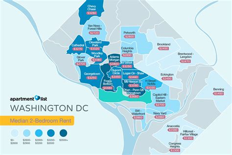 sections of dc where to find the d c metro region s highest rents
