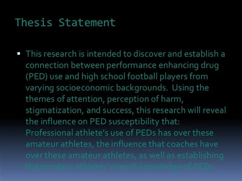 Thesis Performance Enhancing Drugs by Performance Enhancing Drugs