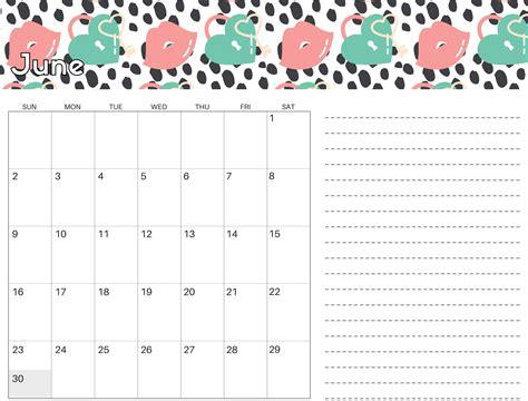 cute june  calendar colorful  kids magic calendar