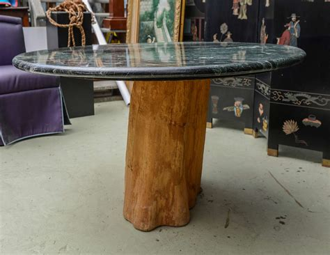 organic michael tree trunk marble dining table mid