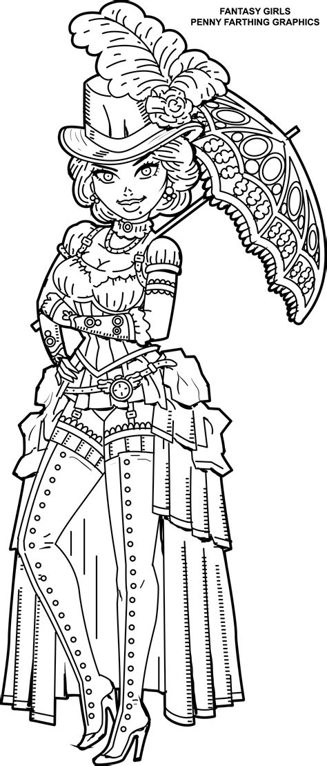 coloring book for goths steunk coloring page from femme fatales