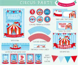 Bridal Cards Circus Party Printable Leo Loves Invitations