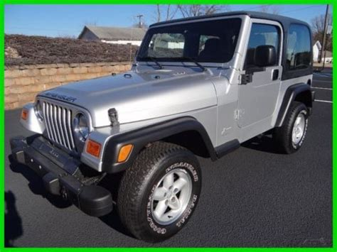 2003 Jeep Wrangler Se Buy Used 2003 Jeep Wrangler Se 4x4 With Top And