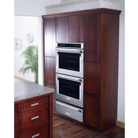 gas wall oven with warming drawer kitchenaid kowt100ess warming drawer 1 5 cu ft capacity
