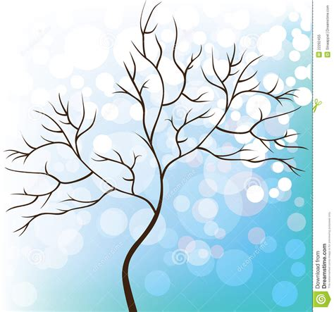 winter tree snowflakes stock vector winter snow background tree without leaves stock vector image 22292455
