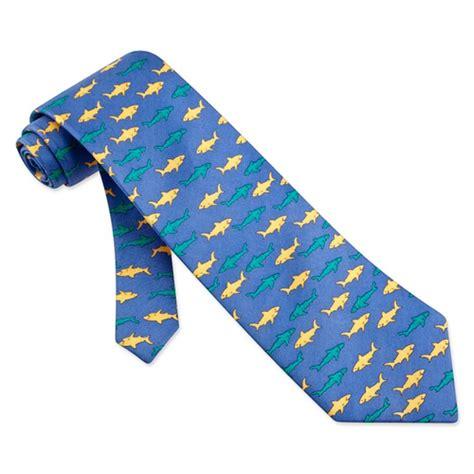 sharks blue silk tie necktie mens animal print neck tie
