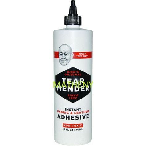 Auto Upholstery Adhesive by Tear Mender Fabric Leather Adhesive Cement 16oz Crafts
