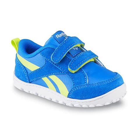 toddler boy athletic shoes reebok toddler boy s venture flex blue yellow