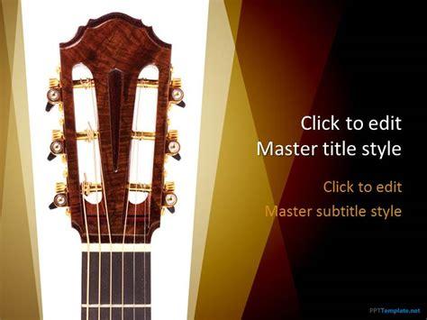 Free Music Guitar Ppt Template Guitar Powerpoint Template