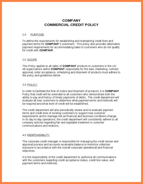 Business Credit Card Use Policy Template by 7 Company Policy Template Company Letterhead