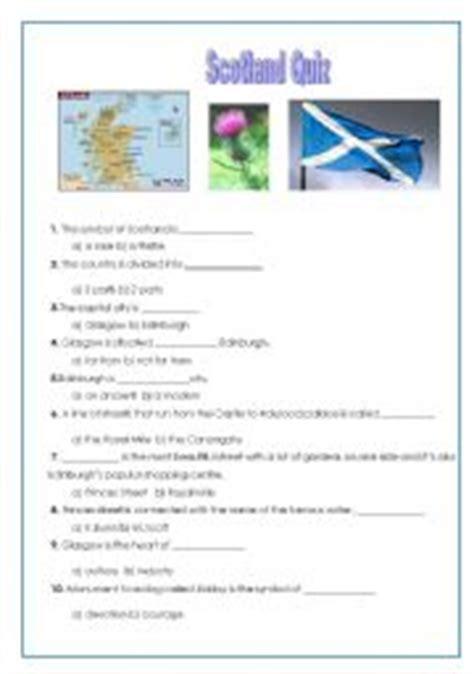 printable quiz about scotland intermediate esl worksheets scotland quiz