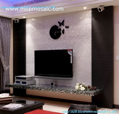 Wall Decor Tv Background by Shell Tv Set Background Wall