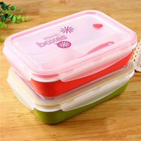 Lunch Cooler Box Terbaru Korean Style lunch box microwave 4 compartments with soup bowl lunchbox korean style seal lunch box bento