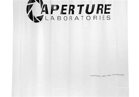 aperture shower curtain portal 2 takes your holiday shopping to a new dimension