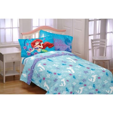 little mermaid twin comforter set disney s little mermaid mermaid princess twin sheet
