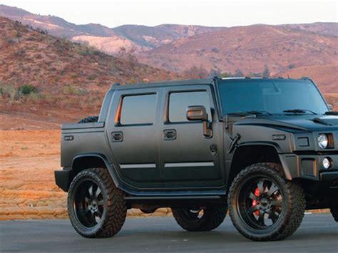 jeep hummer matte black 2007 hummer h2 sut 24 inch rims truckin magazine