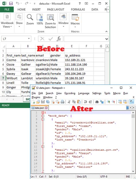 3 free excel to json converter for windows convert xls