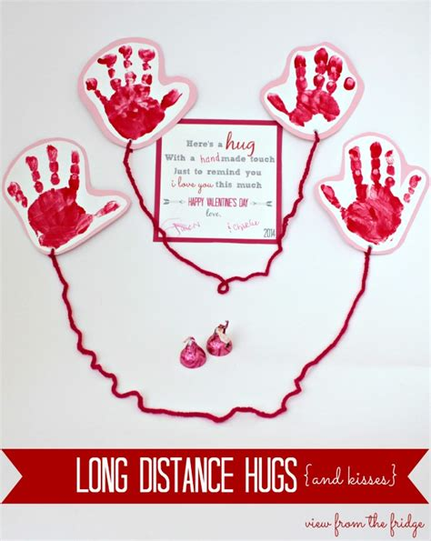 distance hugs for s day poems crafts
