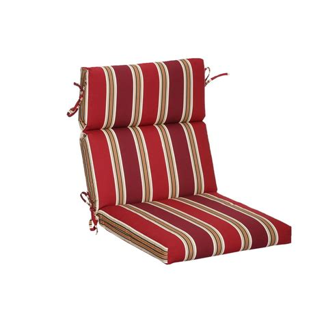 Striped Dining Chair Cushions Hton Bay Chili Stripe Outdoor Dining Chair Cushion 7718 04219611 The Home Depot