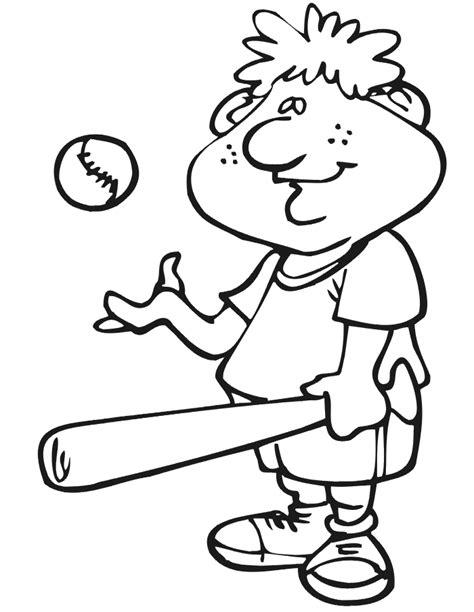coloring pages free printable baseball printable baseball player coloring page with bat and