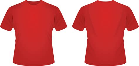 t shirt template red clipart best