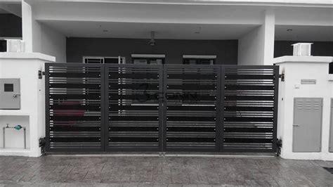 Metal Deck Awning Mild Steel Folding Main Gate Mild Steel Main Gate Folding