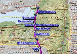 Route 81 Map by Map Interstate 81 Images
