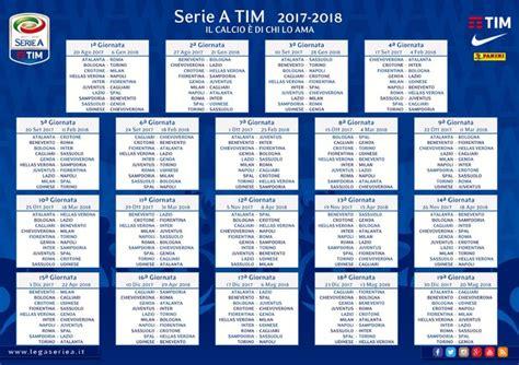 Calendario 7 Giornata Serie A Calendario Serie A 2017 18 Tutte Le Giornate Speciali