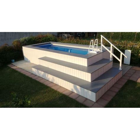 piscine fuori terra rivestite in legno piscina fuori terra rivestita in wpc personalizzata
