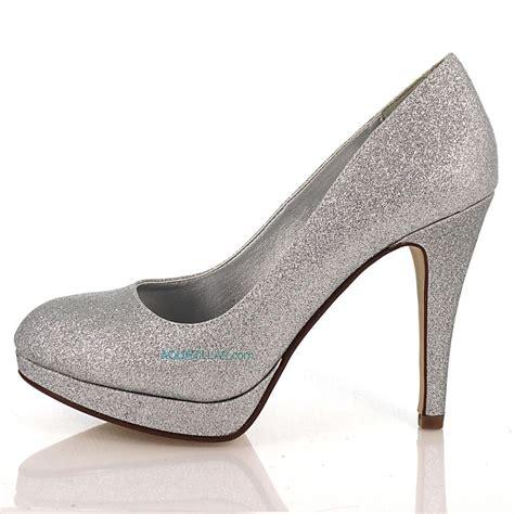 silver glitter high heel pumps eiffel silver glitter toe dress high heel