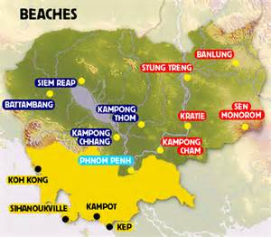 beaches in map cambodia map beaches