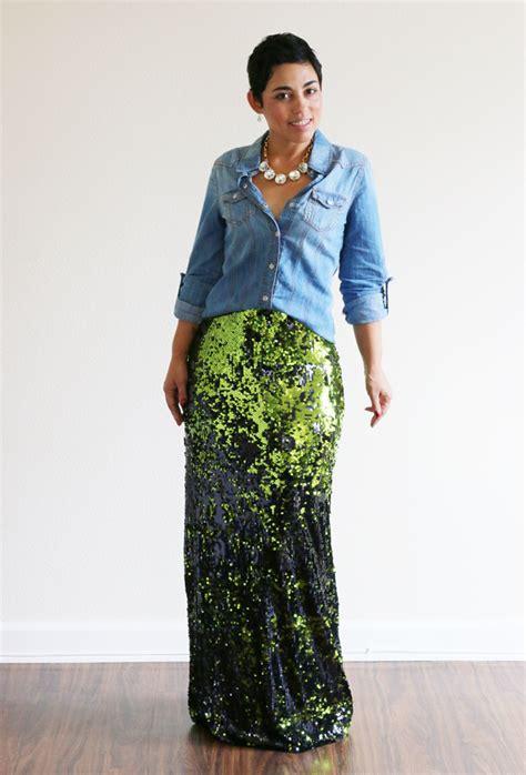 low price fabric mimi g diy sequin maxi skirt tutorial
