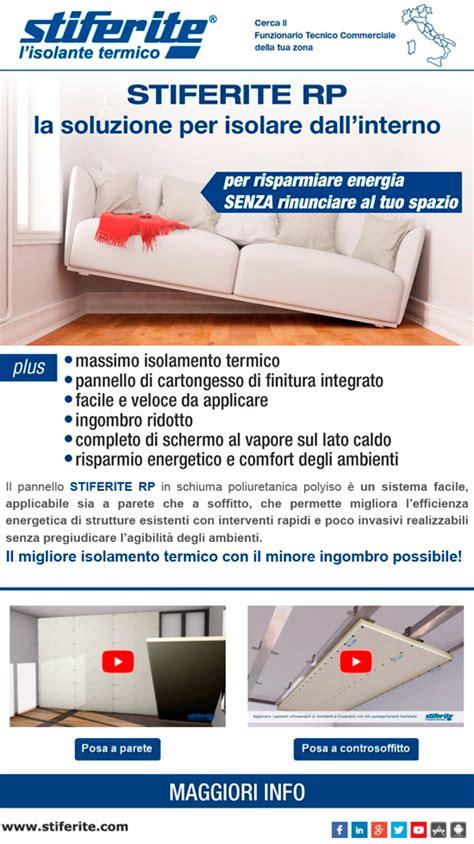 isolamento termico interno soffitto stiferite spa a socio unico azienda produttrice di