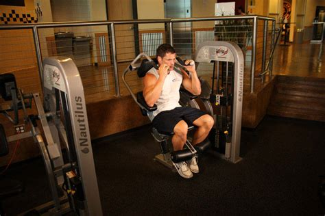 ab crunch machine exercise guide and