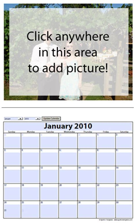 photo calendar template free free photo calendar templates 2018 add your picture