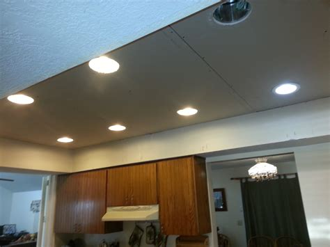 Installing Can Lights In Drop Ceiling Drop Ceiling Recessed Light Installation Lighting Ideas