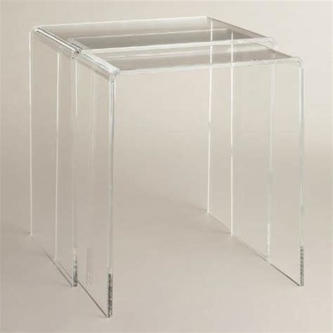 Clear Nesting Tables by Clear Acrylic Thad Nesting Tables