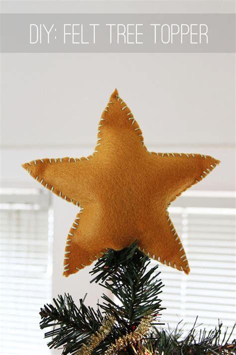 diy xmas tree top star crafty diy felt tree topper earl grey creative