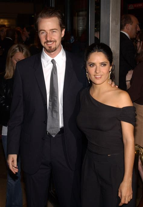 Salma Hayek Is Engaged And Knocked Up by Salma Hayek And Edward Norton They Dated