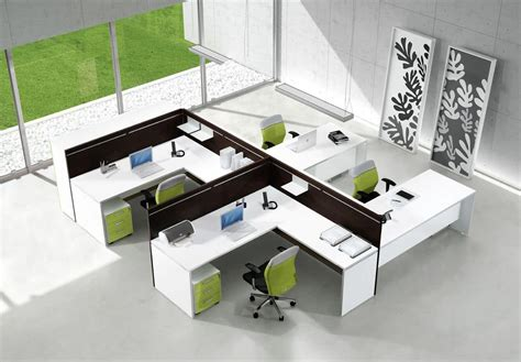 operating stations for offices with modular coloured
