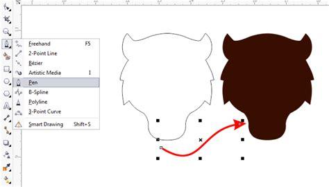 cara pattern corel tutorial coreldraw cara membuat logo harimau keren abis