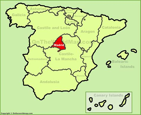 madrid spain on world map community of madrid location on the spain map