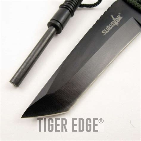 survival tanto 8 quot tanto survival knife w starter and sheath