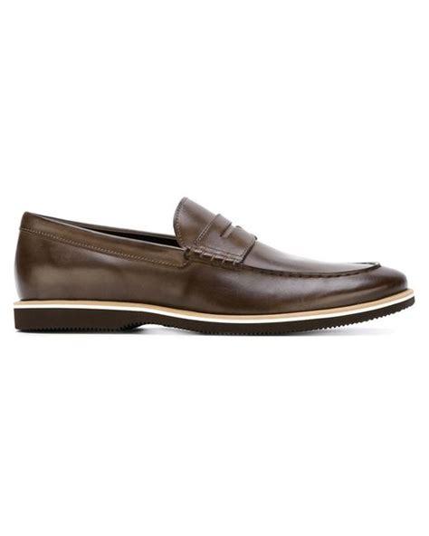 rubber soled loafers rubber sole loafers in brown for lyst