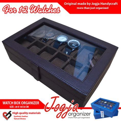 Grade Ori Kotak Jam Tangan Isi 6 Box Tempat Jam Tangan Lv Damier kotak jam tangan isi 12 coklat jogja box organizer