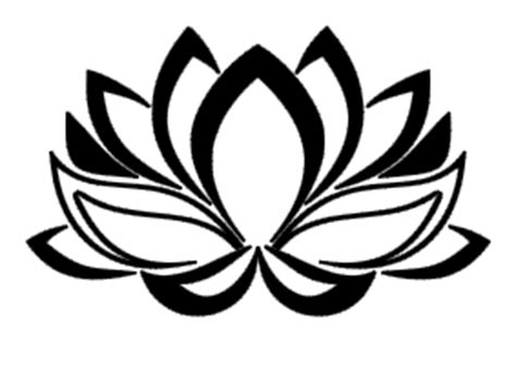Lotus Black And White Outline by Lotus Outline Picture Clipart Best