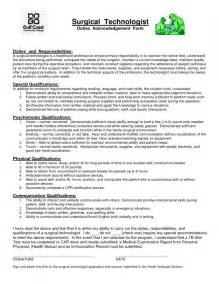 Surgical Tech Resume Exles by Resume For Surgical Technologist Best Resume Exle