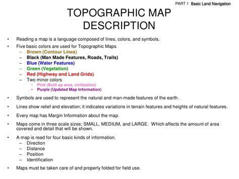 what does the color black on a map illustrate land navigation part 1