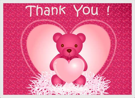 Teddy Thank You Card Template by Free Wedding Thank You Cards Free Personalized Wedding