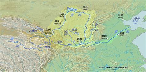 yellow river map huang he river or yellow river geolounge all things geography